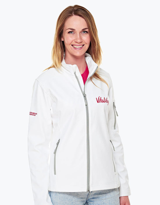 White Softshell Jacket Womens